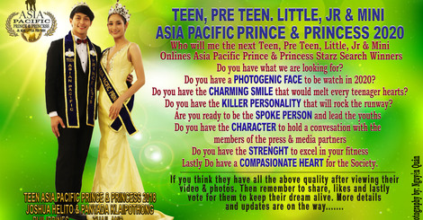 Teen asia pacific prince   princess 2020 poster new small